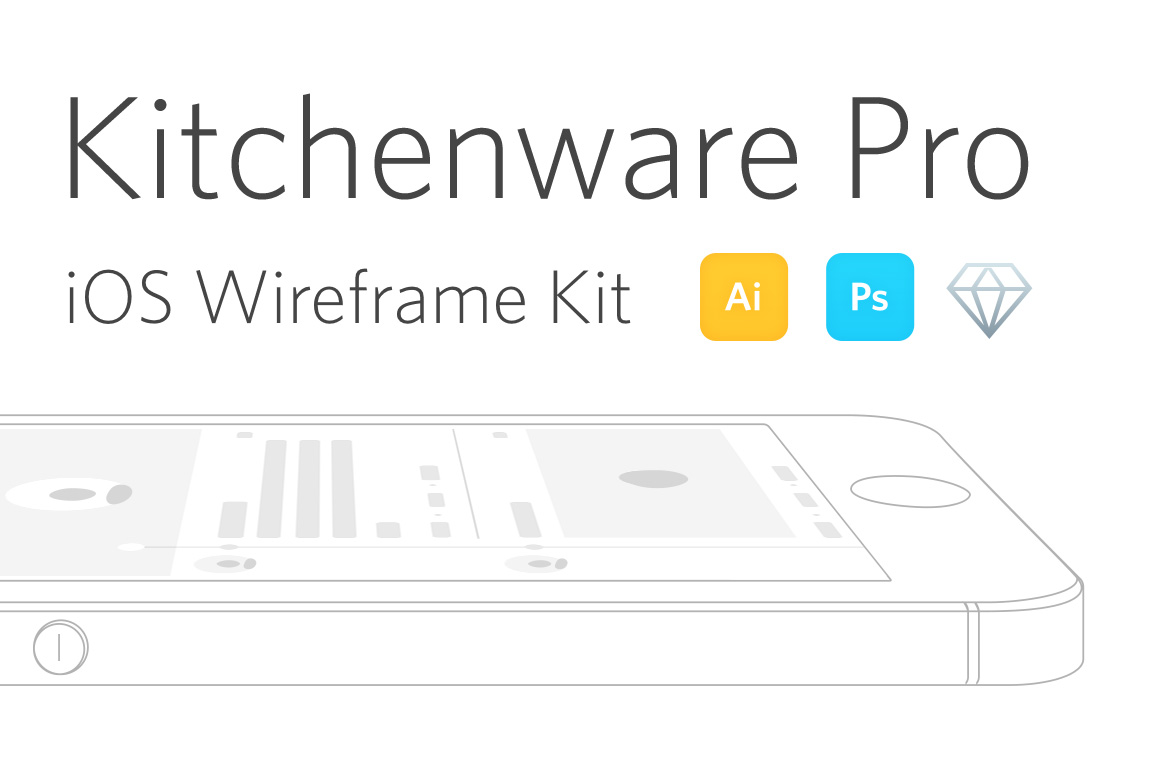 Kitchenware Pro - iOS Wireframe Kit by Neway Lau
