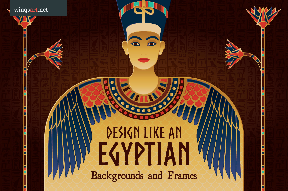 Egyptian Illustrations and Design Templates by wingsart
