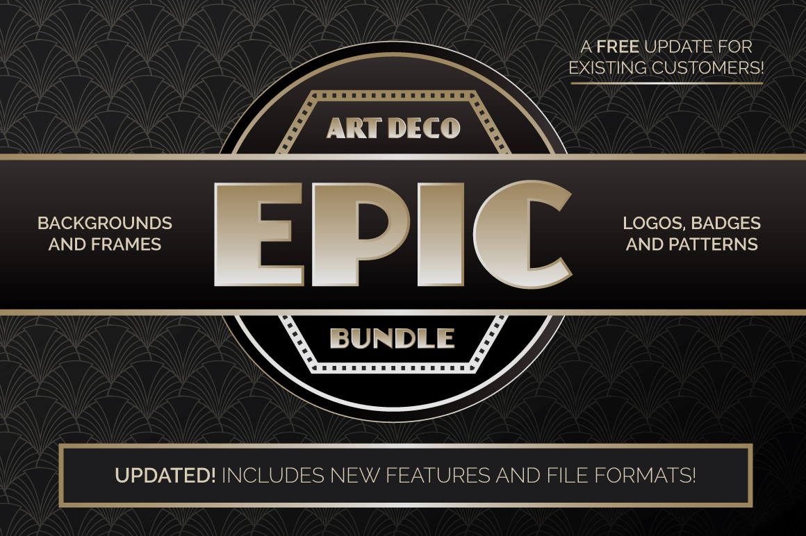 The Epic Art Deco Bundle by wingsart