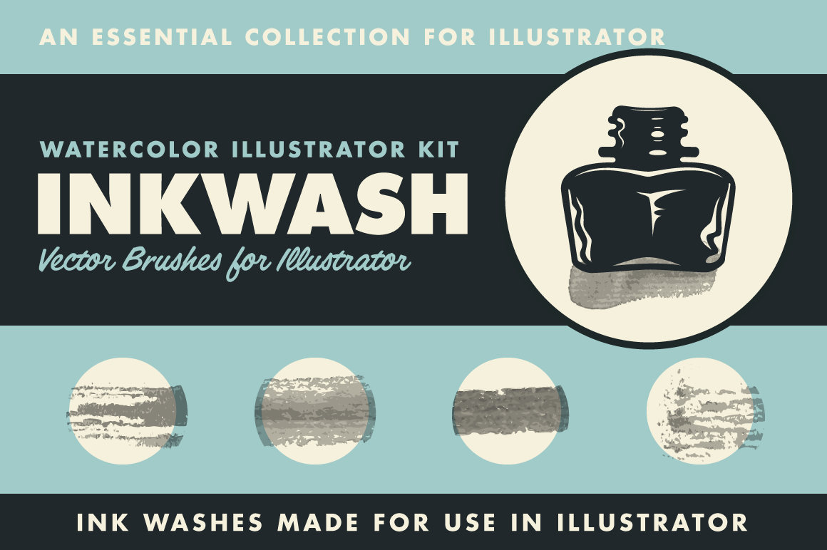 InkWash | Vector Ink Watercolors by RetroSupply.co