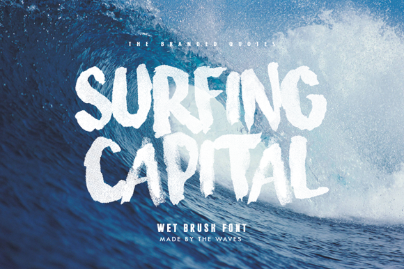 Surfing Capital Font by The Branded Quotes