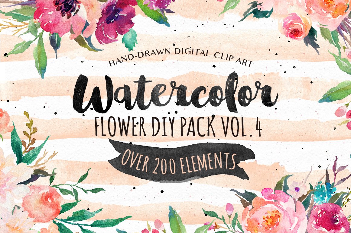 Watercolor DIY Pack by Graphic Box
