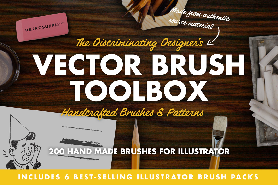 The Vector Brush Toolbox by RetroSupply Co.