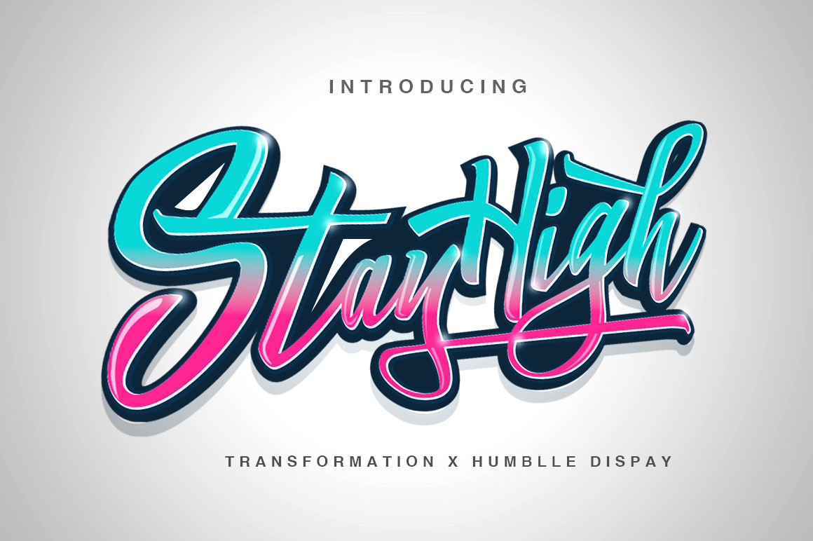 Buy Stay High + Swash Font by by Dirtyline Studio