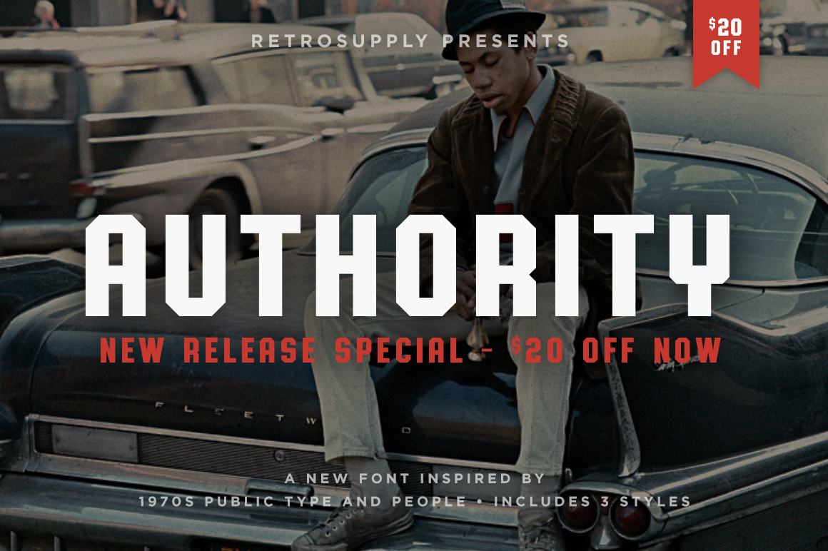 Authority Font by RetroSupply Co.