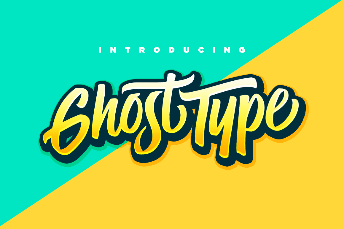 Ghost Type Script Font by Set Sail Studios