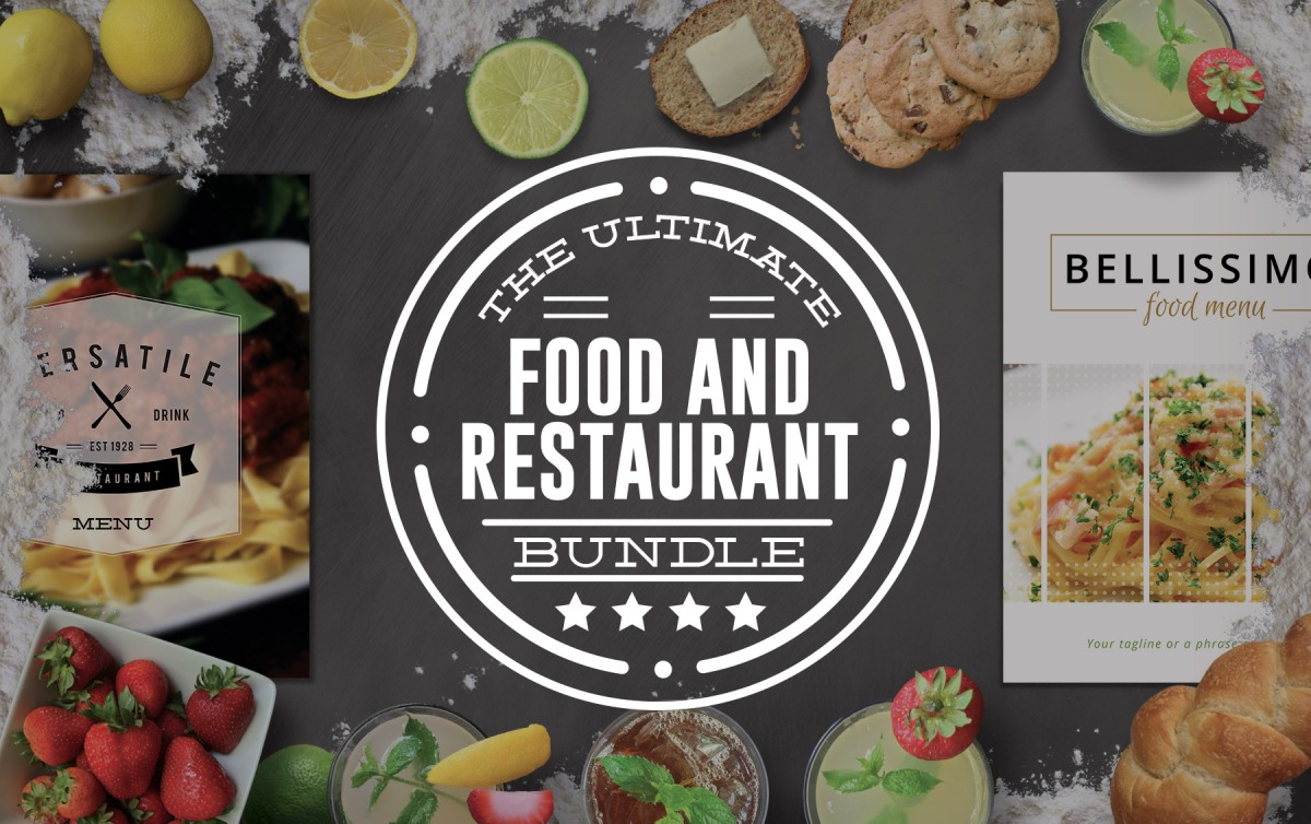 Food and Restaurant Graphics Bundle by Nathan Knight Design