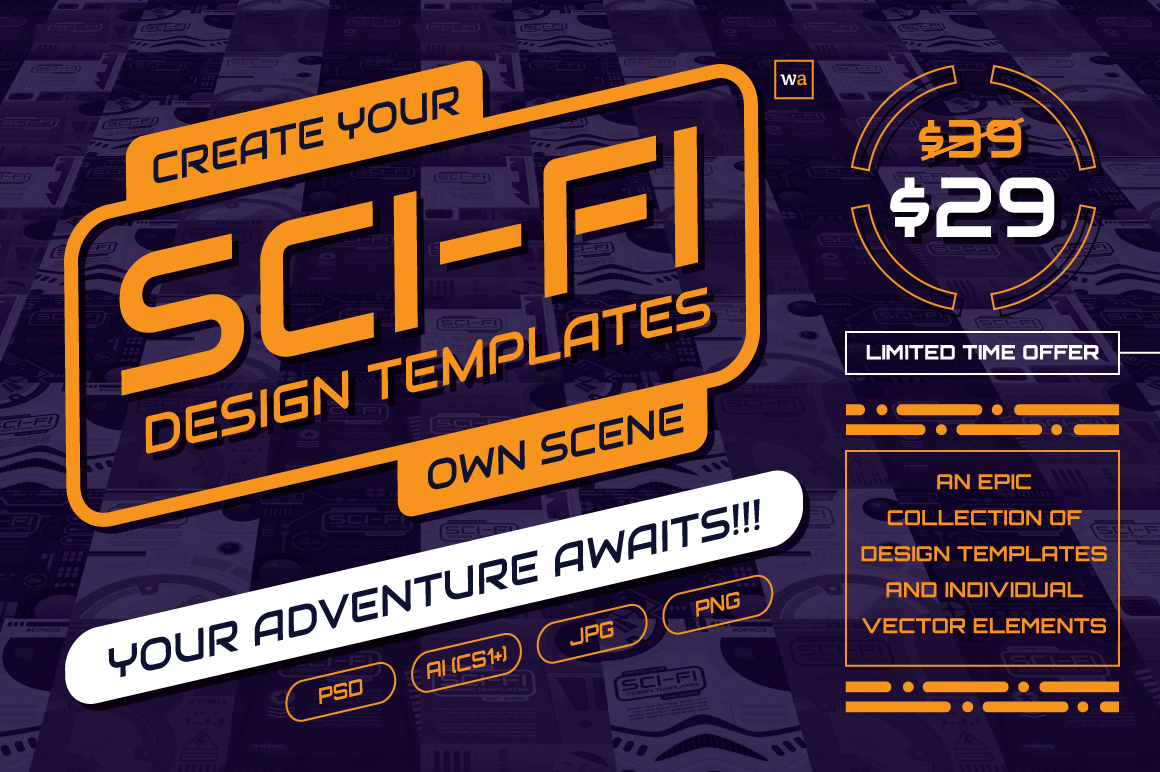 Sci-Fi Design Templates and Elements by wingsart