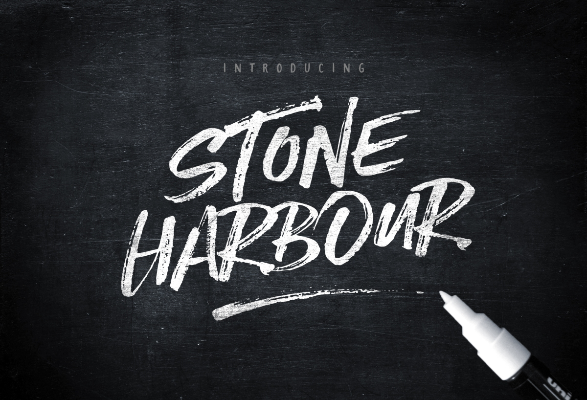 Stone Harbour Brush Font by Nicky Laatz