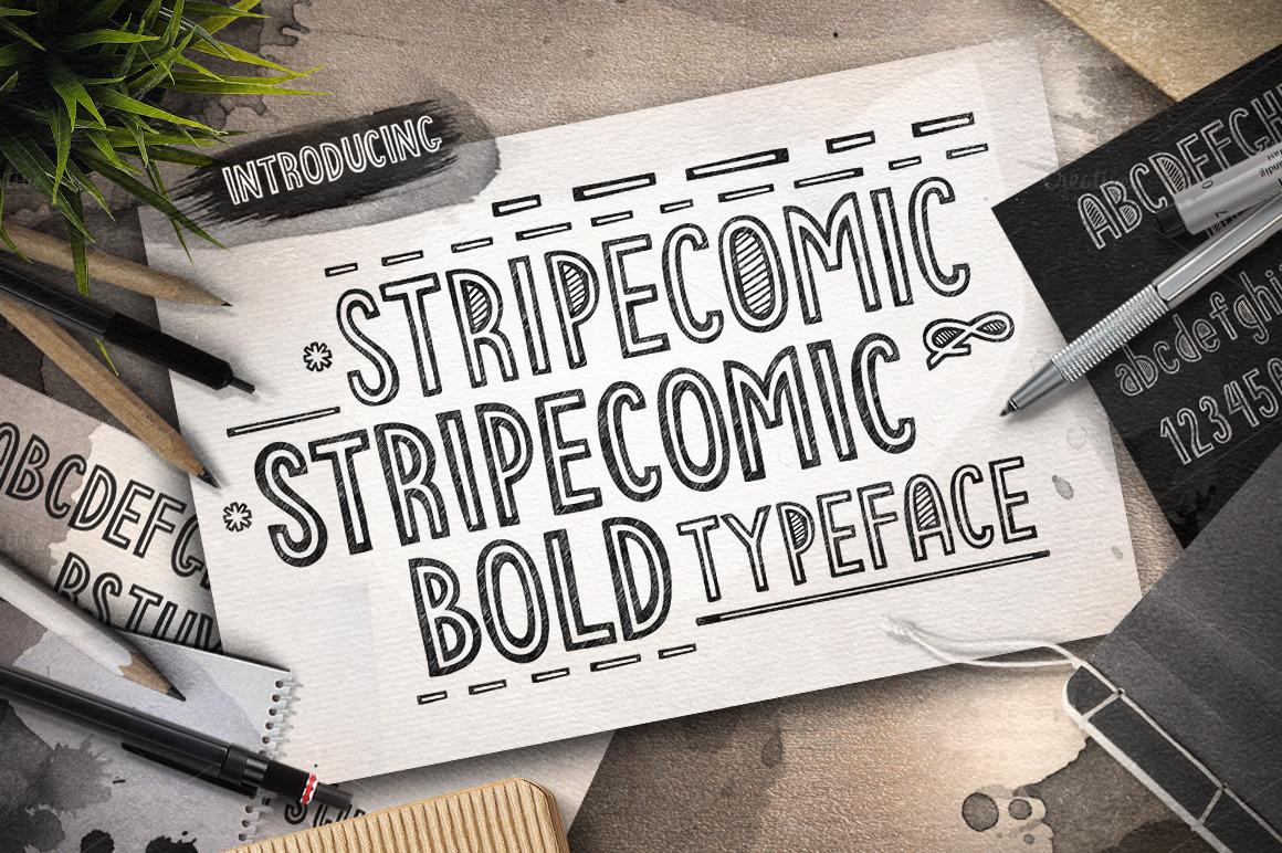 Stripecomic Typeface by balabolka