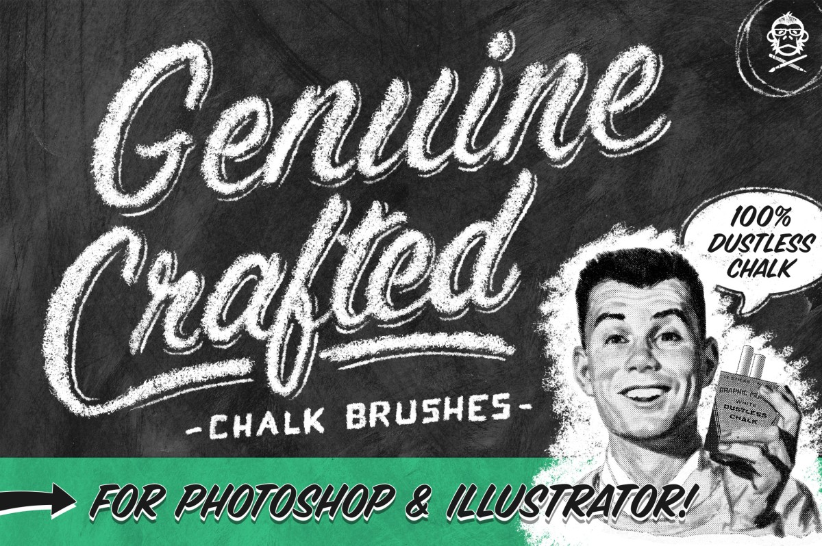 Genuine Chalk Effects for PS & AI by GraphicMonkee