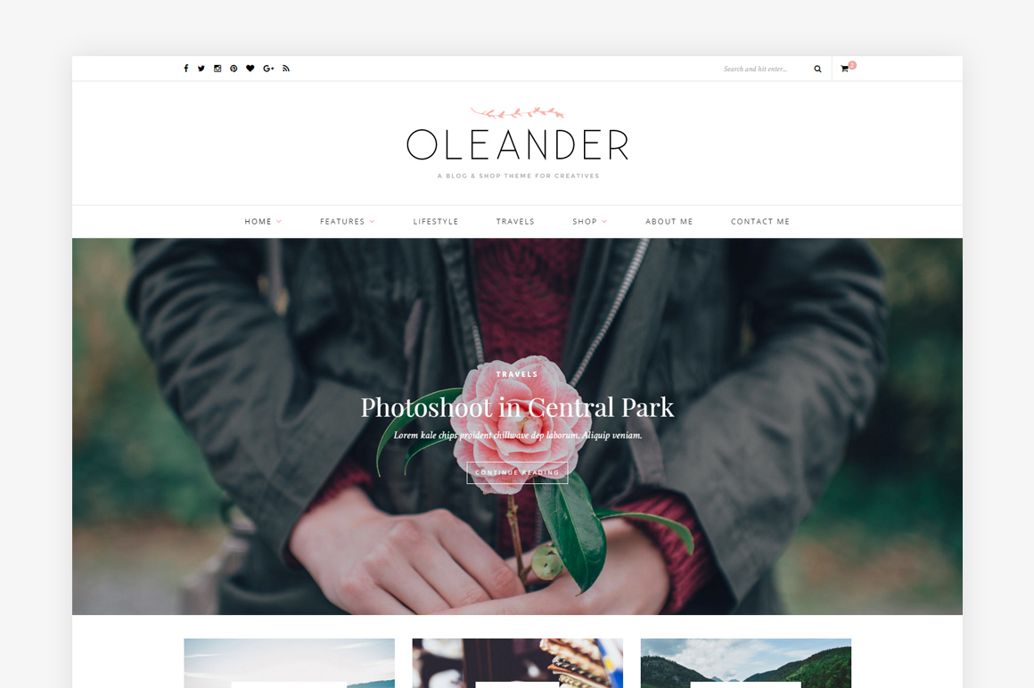 Oleander - A Blog & Shop Theme by Solo Pine
