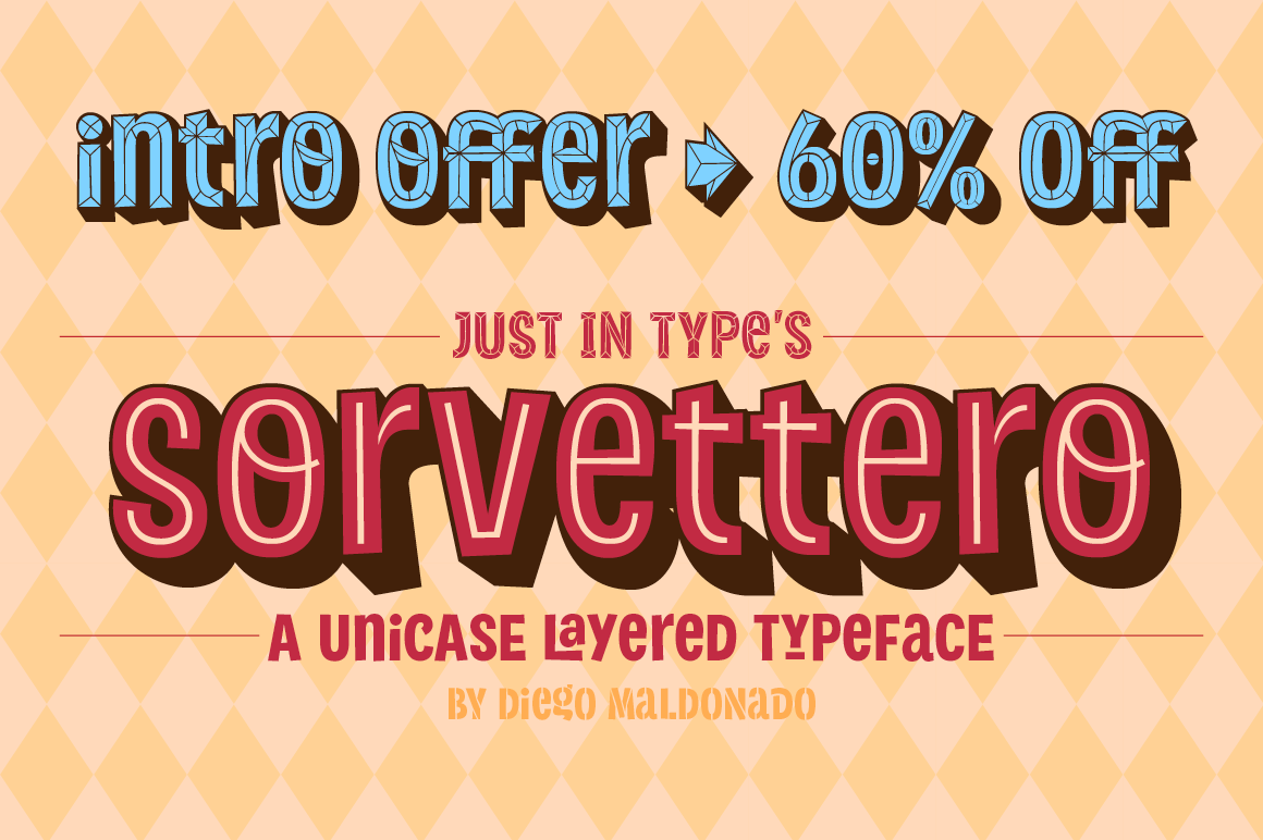 Sorvettero – Cartoon Font by Just in Type