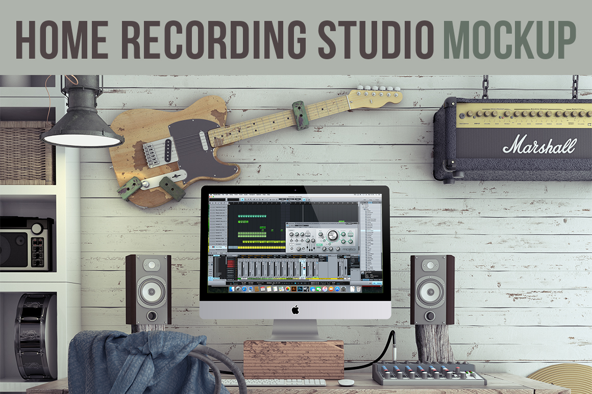 Home Recording Studio Mock-Up Kit by Bobboz Store