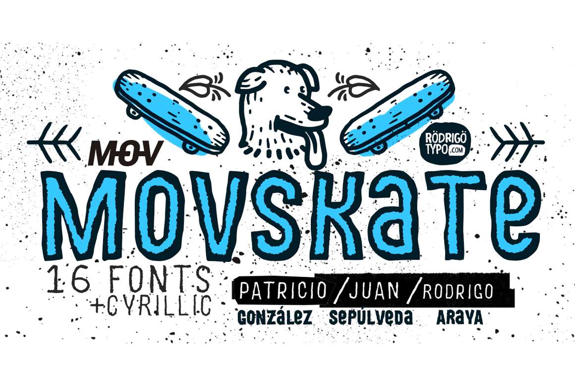 MOVSKATE + Cyrillic Font by Rodrigo Typo
