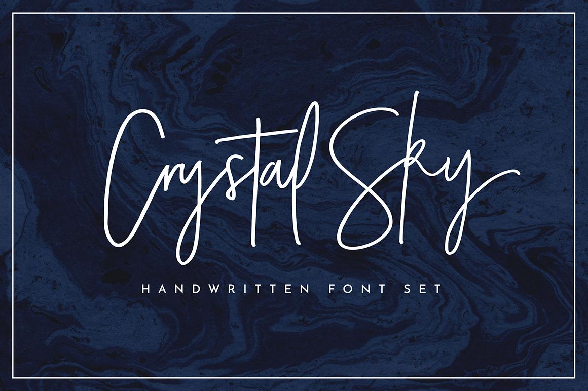 Crystal Sky Font Set by Sam Parrett