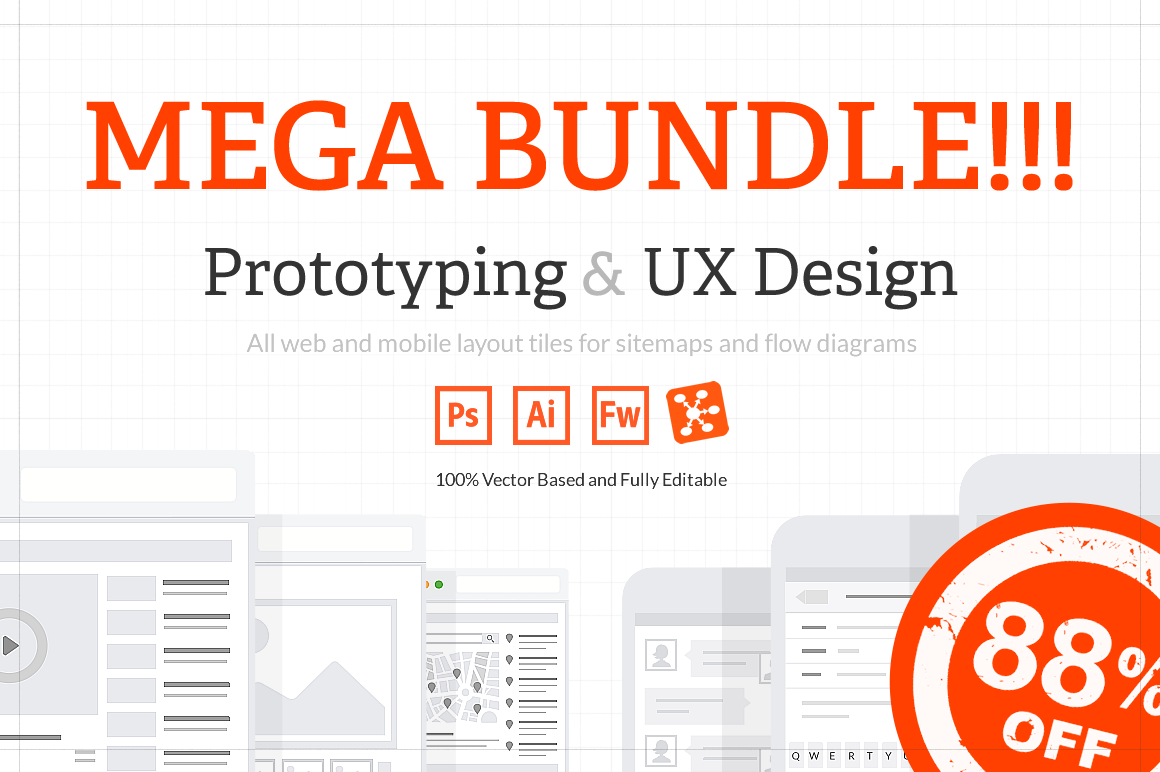 UX Web & Mobile Tile Mega Bundle by firetuts