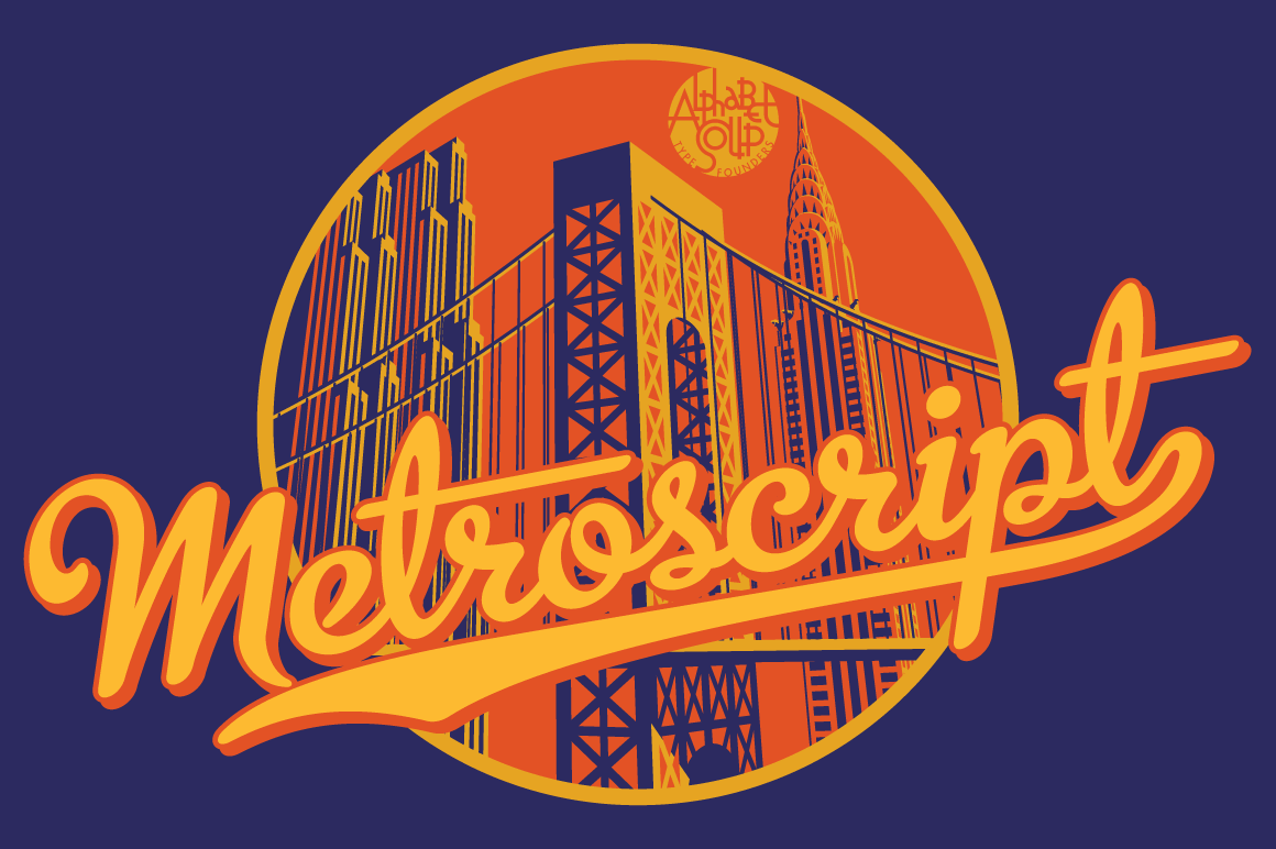 Metroscript™ Font by by MichaelDoret/AlphabetSoup