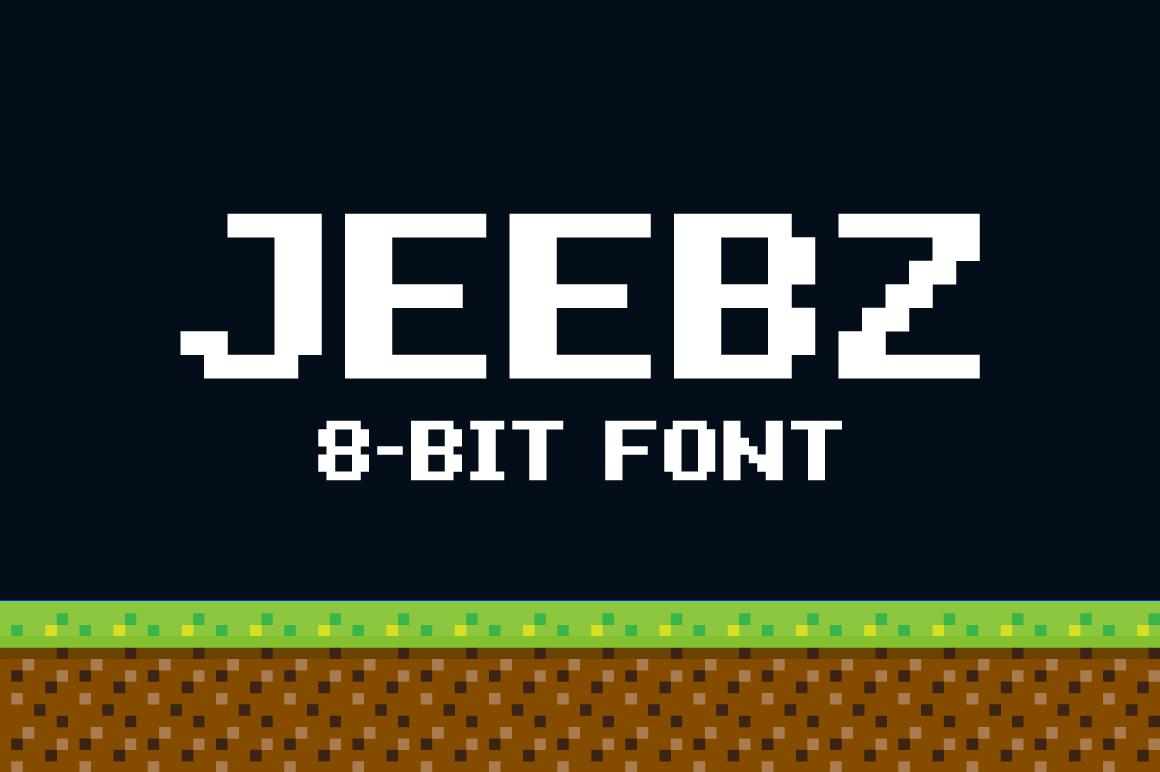 Jeebz: 8-bit font by chuckchee