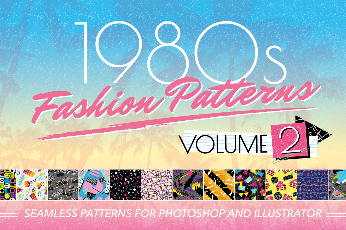 1980s Retro Fashion Patterns Vol 2 by wingsart