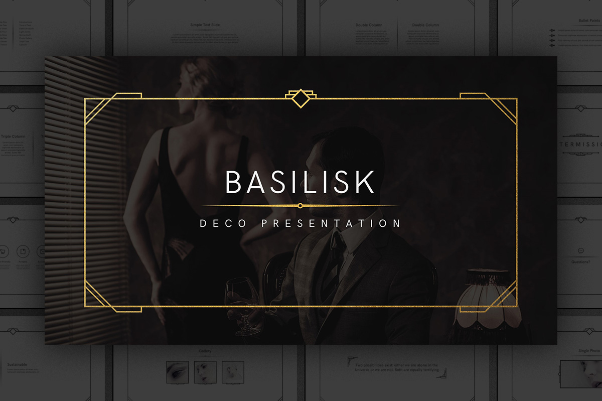 basilisk  u2013 art deco presentation template by tugcu design
