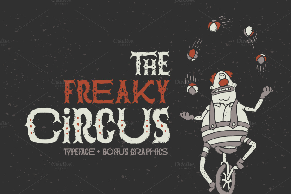 The Freaky Circus font by Gleb Guralnyk