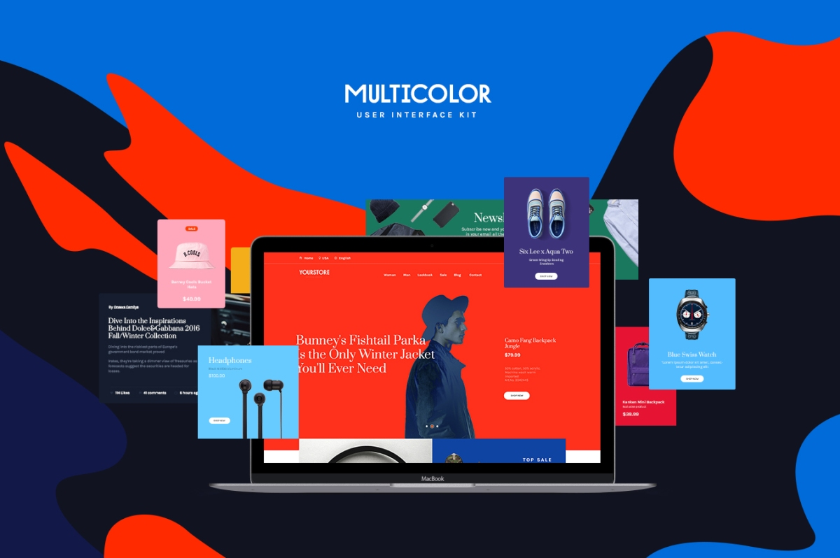 Multicolor UI Kit by Amirzanuly