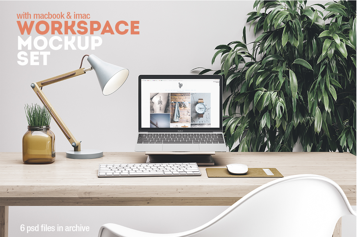Workspace Mockup Set by Best Pixels