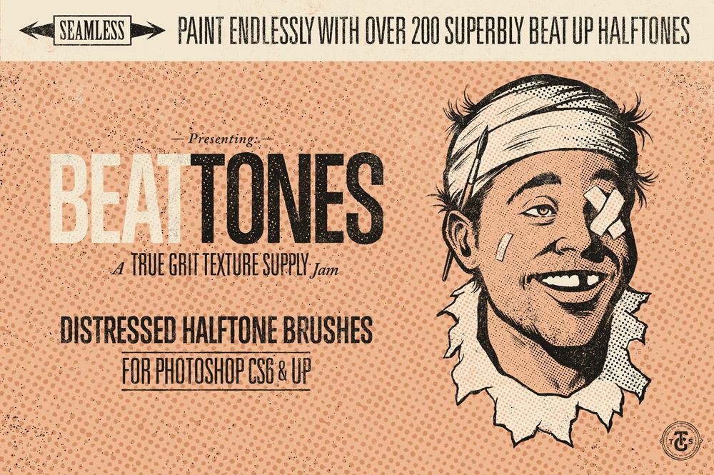 BEAT TONES: Beat Up Halftone Brushes