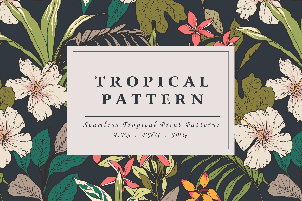 Tropical flower pattern by Graphic Box