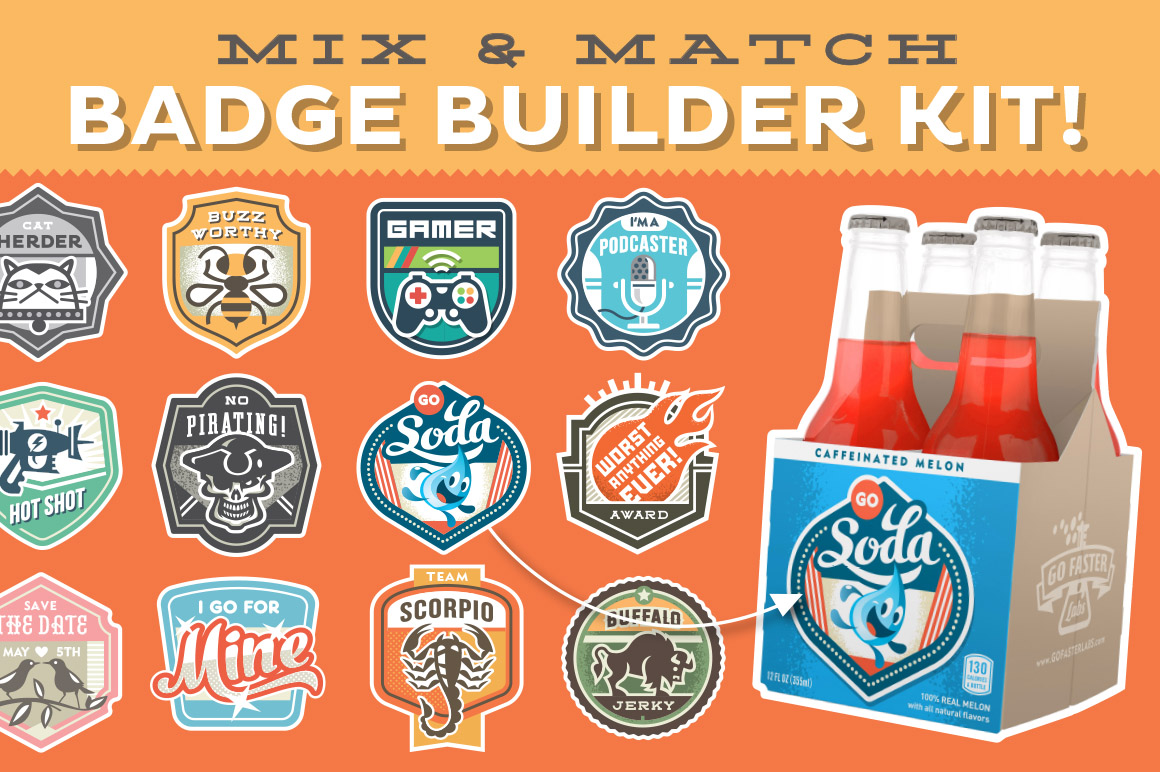Magnificent Mix & Match Badge Kit by Go Faster Labs