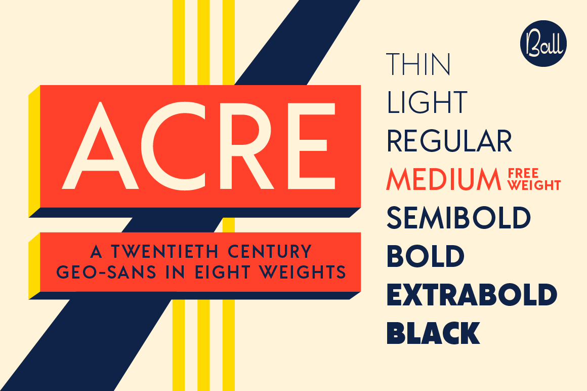 Acre Font Family by JonathanBall