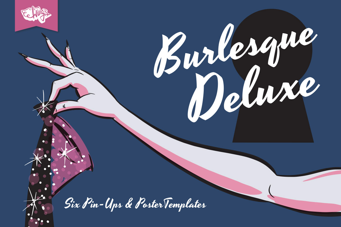 Burlesque Pin-Ups and Poster Bundle by wingsart