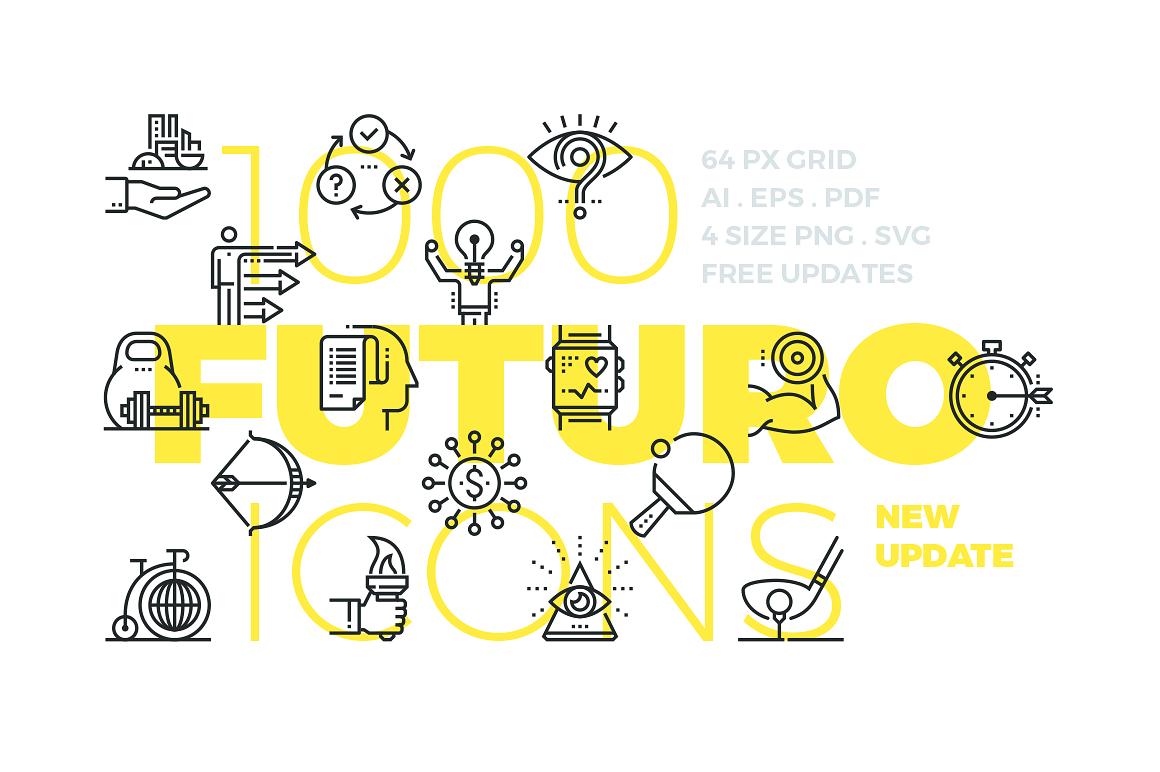 Futuro Line Icons by Bloomua