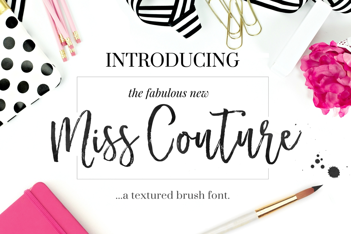 Miss Couture Brush Script by Nicky Laatz