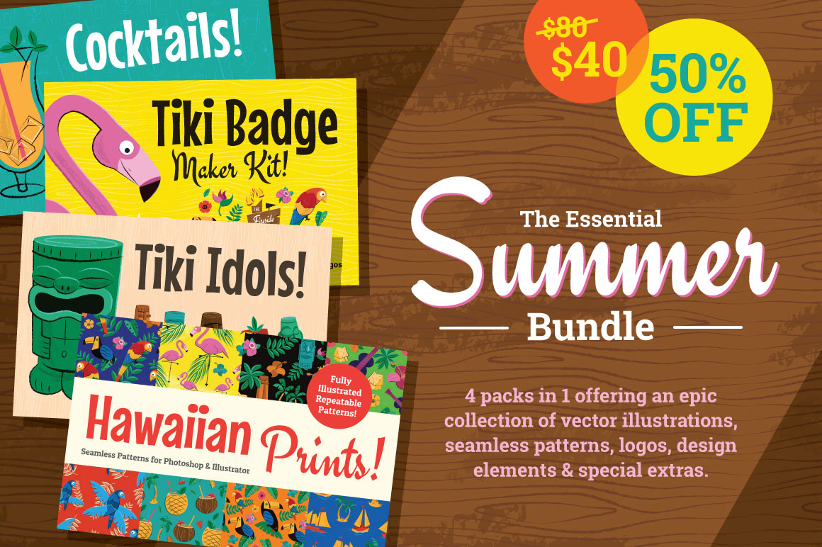 Hawaiian & Tiki Summer Bundle 50%OFF by wingsart