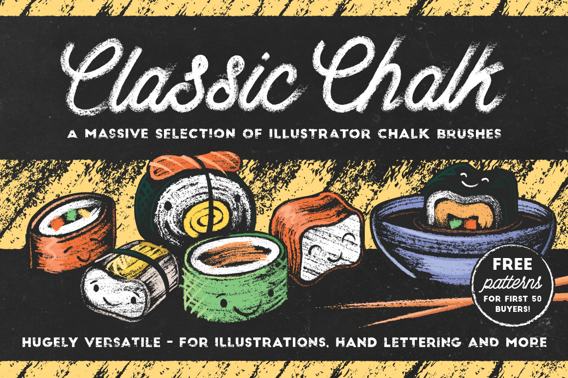 Classic Chalk Brushes for Illustrator by The Artifex Forge