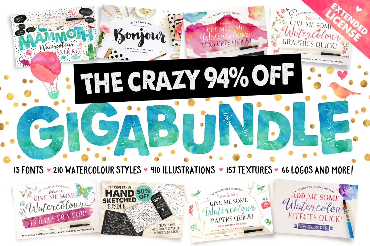 94% OFF - The Watercolour Gigabundle by Nicky Laatz