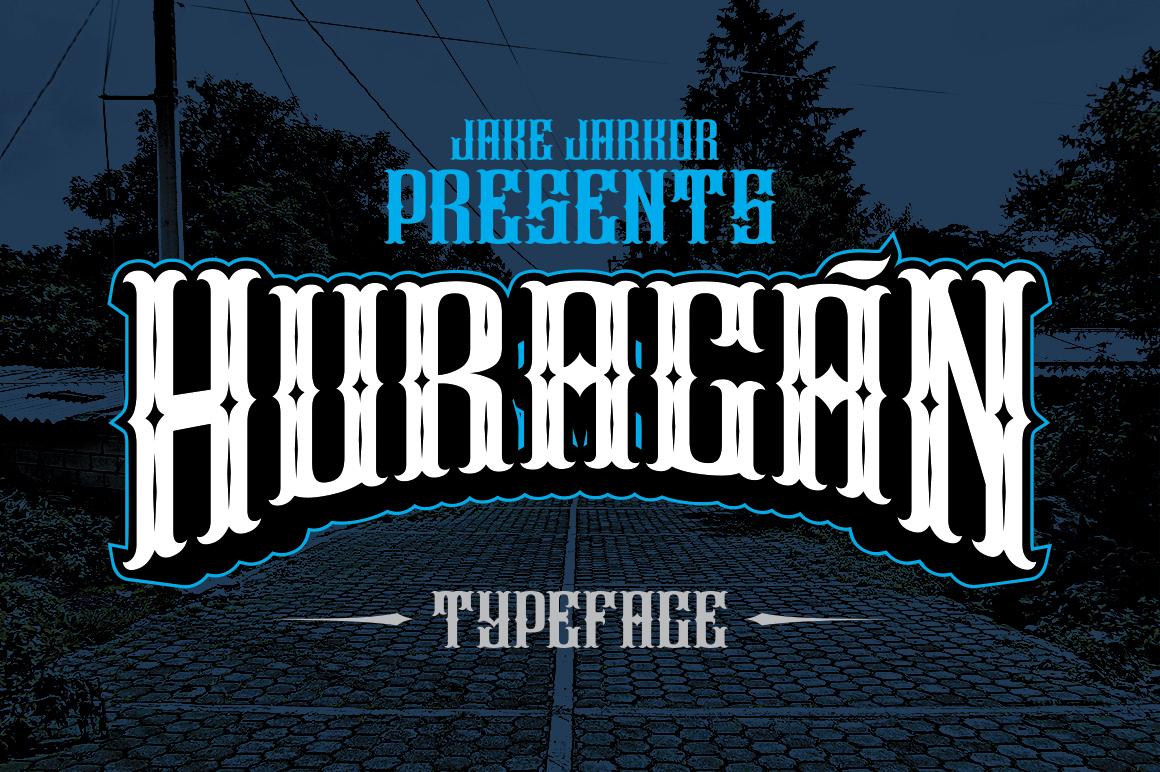 HURACÁN Vintage font by jakejarkor