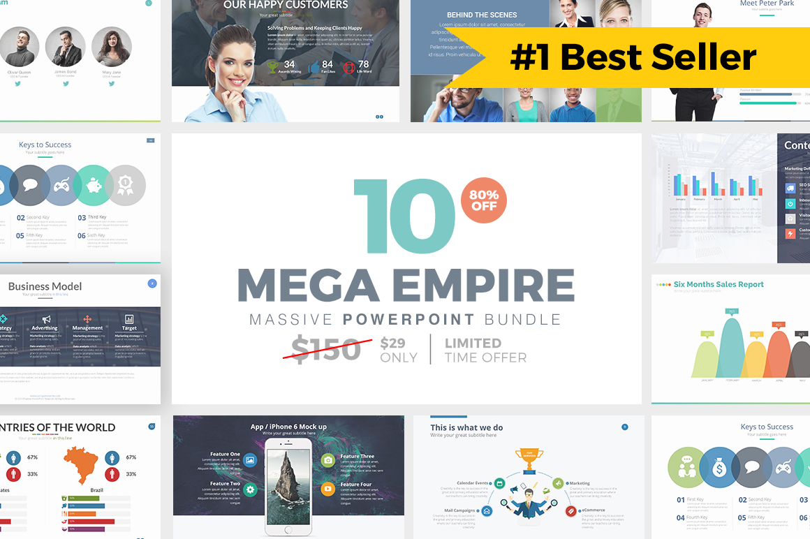 MEGA EMPIRE Powerpoint Bundle by Slidedizer