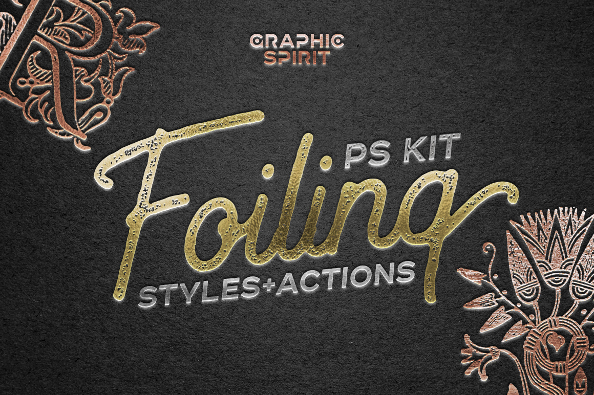 Gold Foiling Photoshop Style and Actions by GraphicSpirit