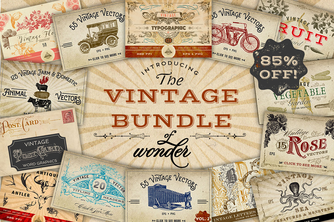 The Vintage Bundle of Wonder by Eclectic Anthology