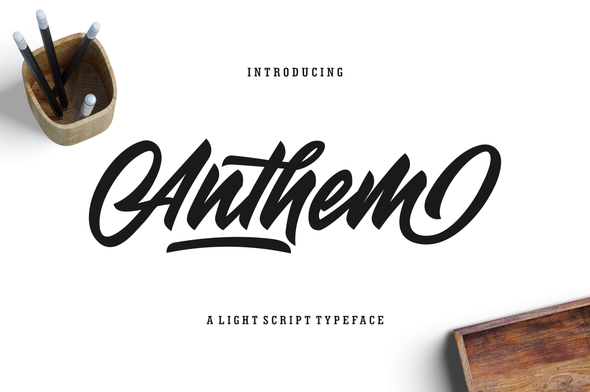Anthem Typeface by Surotype