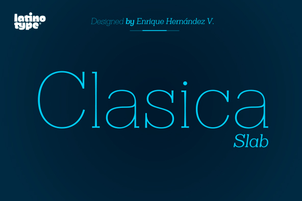 Clasica Slab Font Family by Latinotype