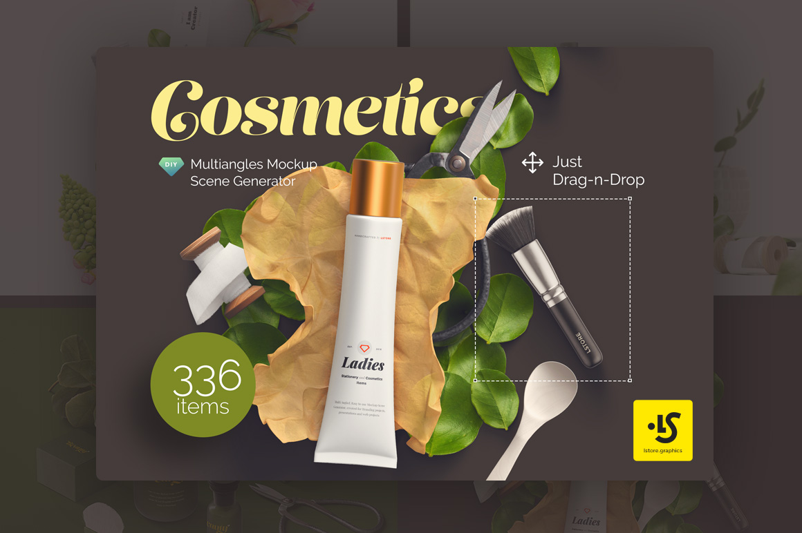 Cosmetics Mockup Scene Generator by LS-tore