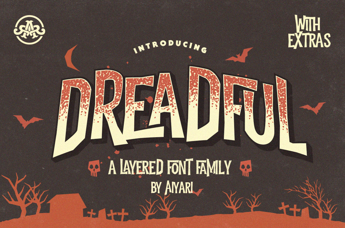 dreadful the perfect halloween font by aiyari - Good Halloween Font