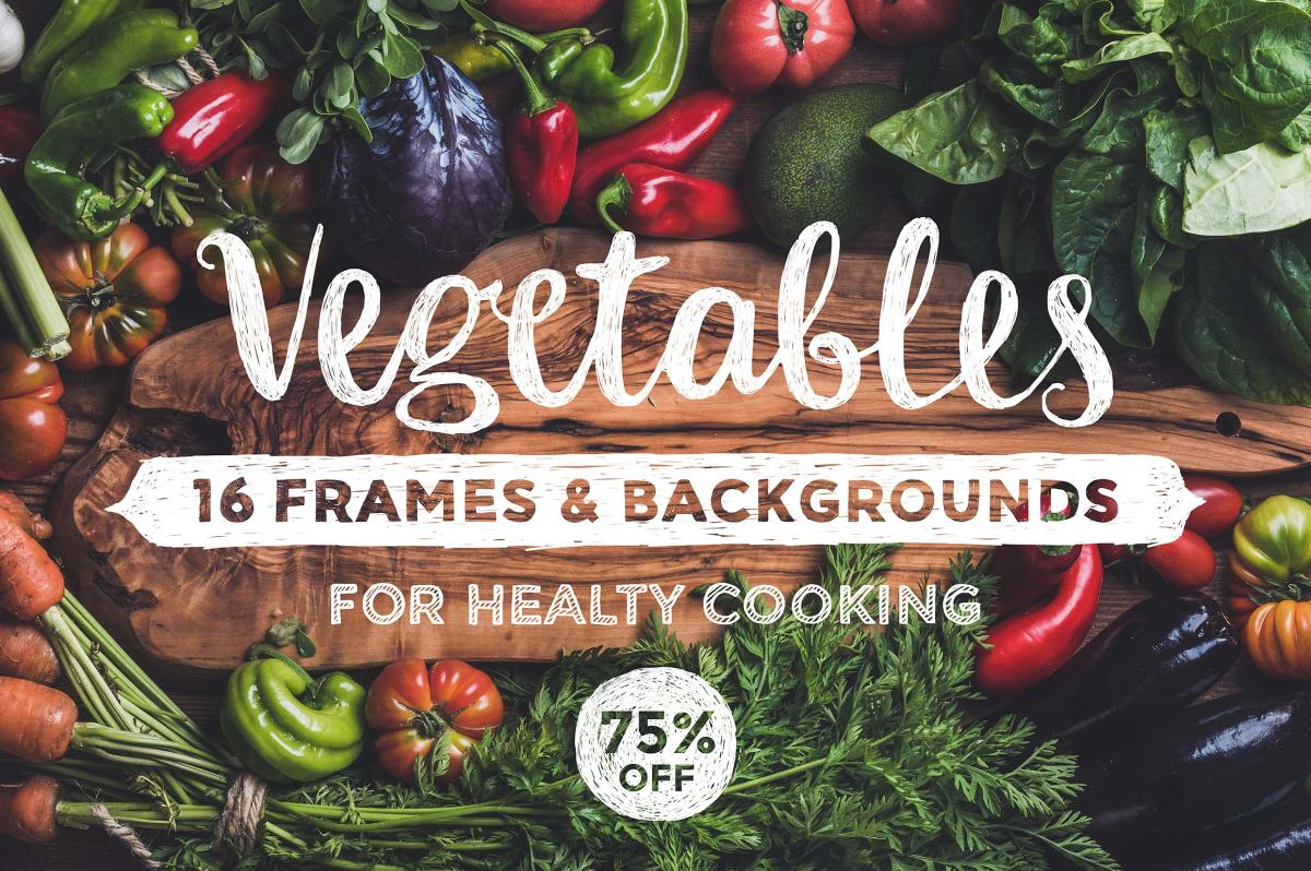 Healthy Eating Frames & Backgrounds by Foxys
