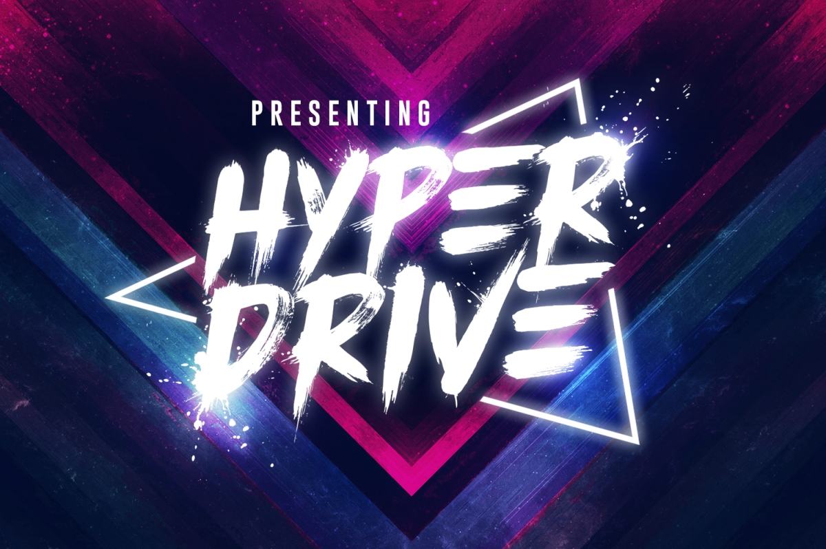HYPER DRIVE - The Perfect 80s font by Sam Parrett