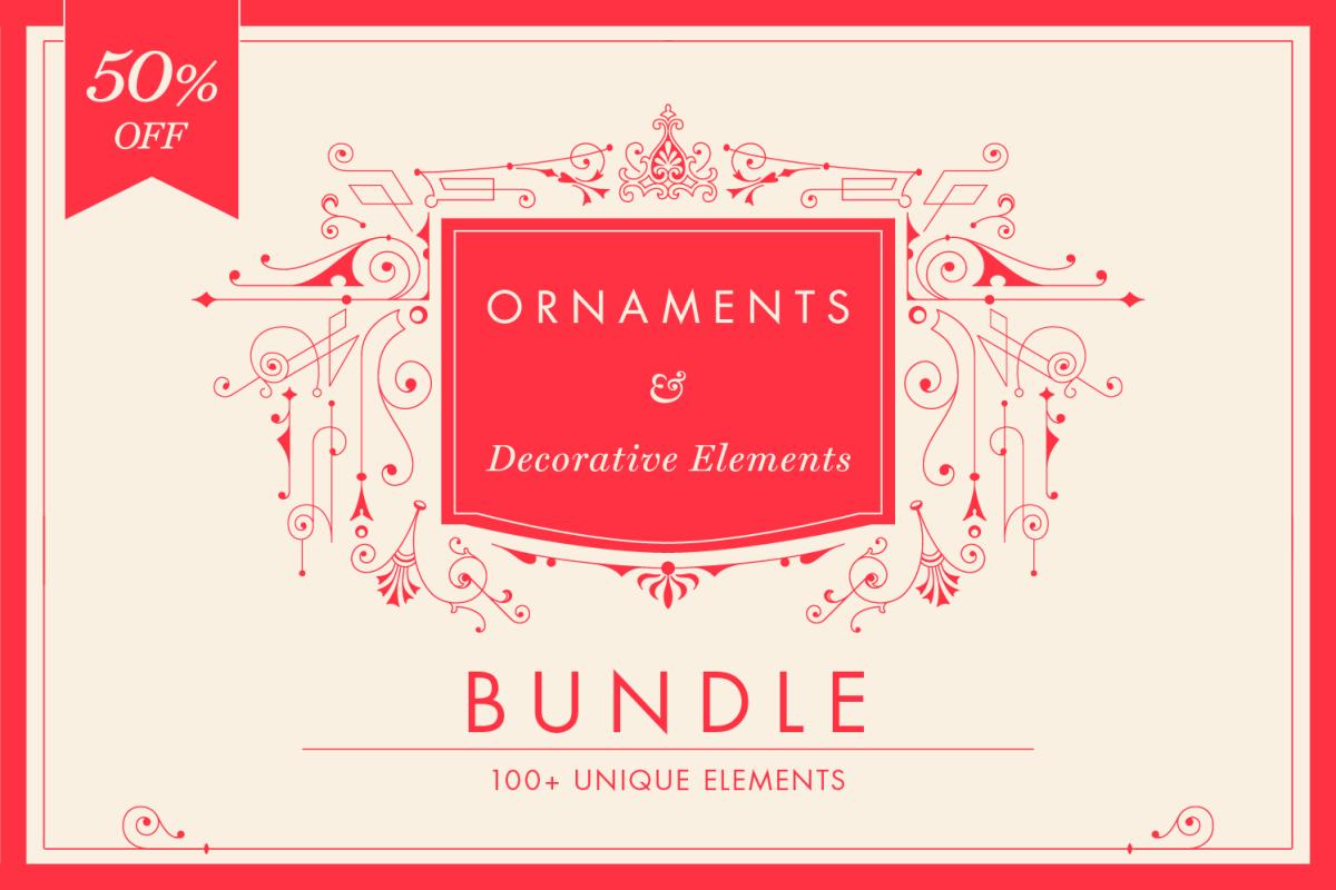 Decorative Vector Ornaments Bundle by digiful