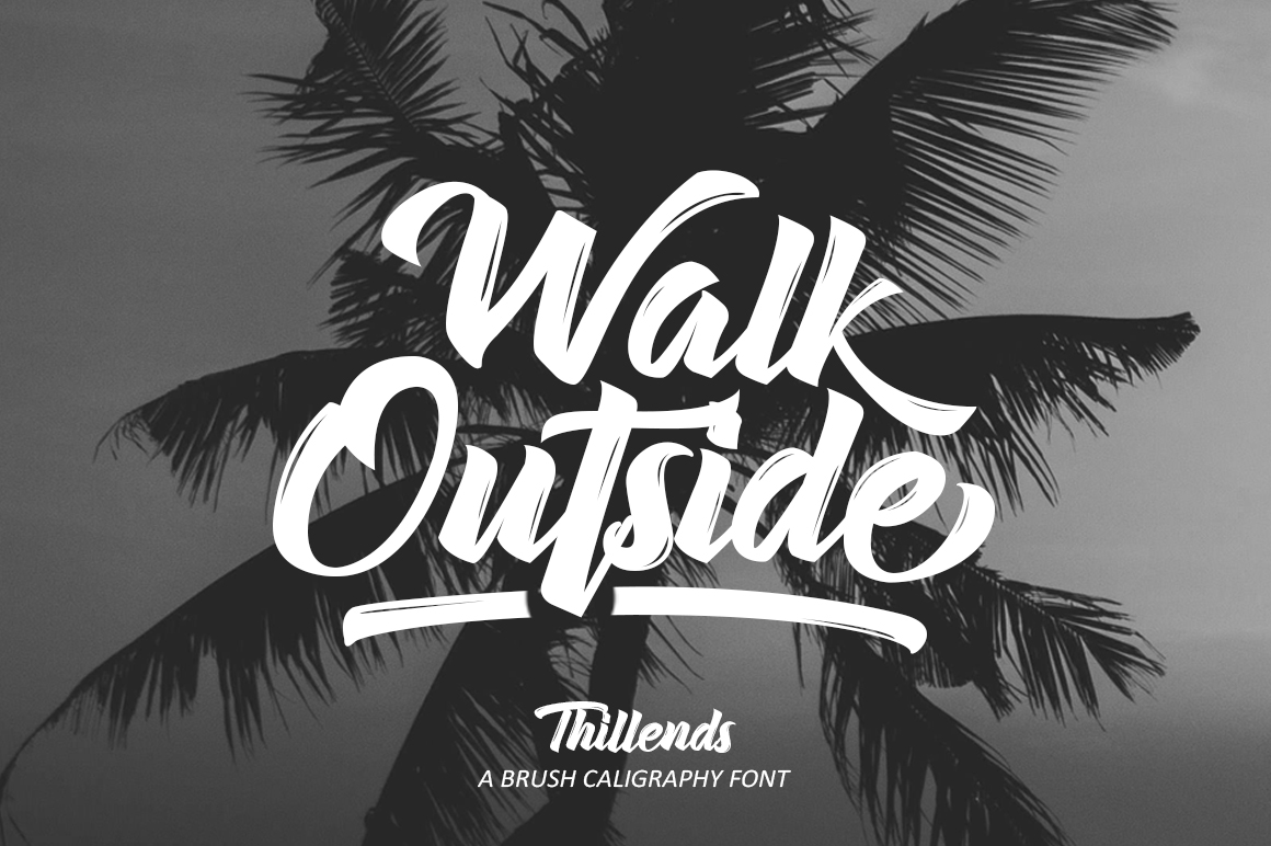 Thillends Script Font by by Wacaksara Co.